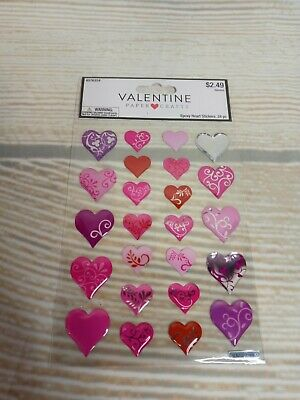 580 Pieces// 10 Sheets Valentines Day Glitter Heart Stickers Red and Pink Heart Metallic Stickers Love Shaped Stickers Sheets for Valentines Day Cards Invitations Crafts Decoration