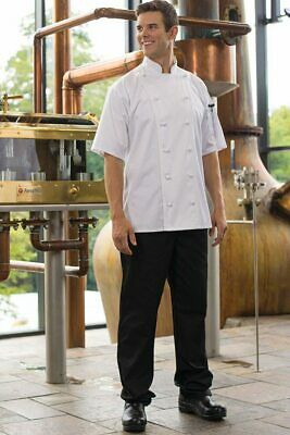 Black Chef Pants Snap & Fly closure by Uncommon Threads Small NWT