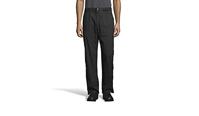 Black Chef Pants Snap & Fly closure by Uncommon Threads Large NWT