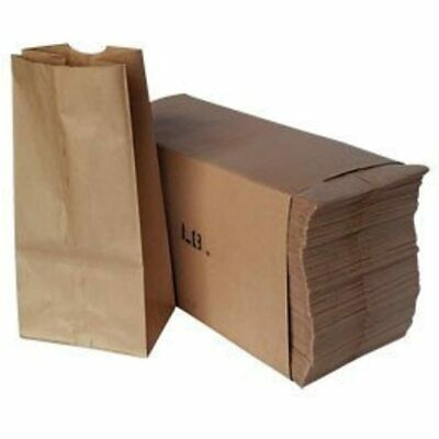 Paper Lunch Bags, Grocery Durable Kraft Pack Of 500 (brown, 4) Kitchen &amp