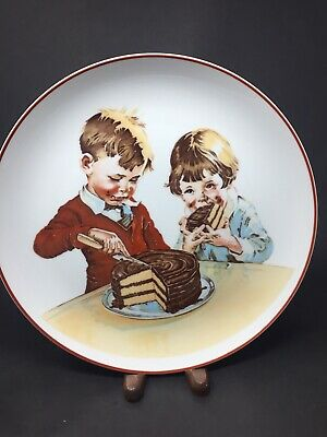 Hershey's Foods commemorativ  Plate From The Cover Of  1934 Chocolate Cook Book.