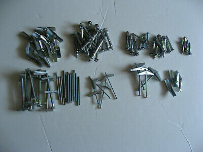 Drywall Hollow Metal Wall Anchors Toggle Bolt Spring Wing Various Sizes-1 Lot