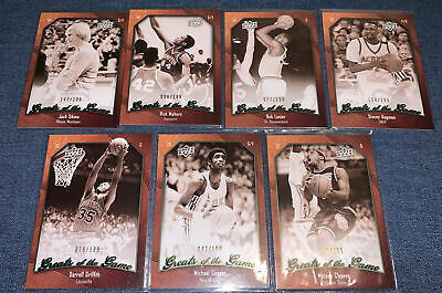 2010 Upper Deck GREATS OF THE GAME Lot 7 #/199 No Dups Sikma/Mahorn/Lanier....