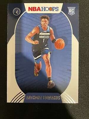 ANTHONY EDWARDS RC 2020-21 Hoops Rookie RC NBA Basketball Card #216