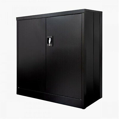 Luxor 36-inch Folding Two Shelf Metal Storage Cabinet