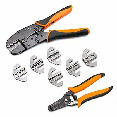 Wirefy Crimping Tool Set 8 PCS - Ratcheting Wire Crimper - Heat Shrink,