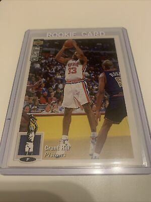 1994-95 Upper Deck Collector's Choice FRENCH #429 Grant HILL RC Detroit PISTONS