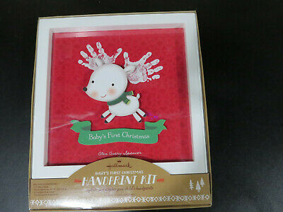 Hallmark Baby's First Christmas Handprint Kit With Frame New