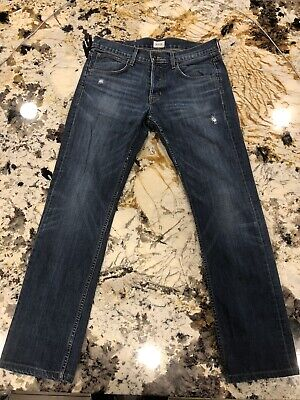 "Hudson ""Byron Straight"" Men's Slim Demin Jeans 32""x31"" Made in USA"