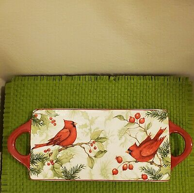 Red Robin Porcelain Tray
