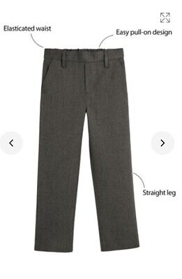 3 pairs Boys Next School Trousers Age 10 regular Grey and black one brand new
