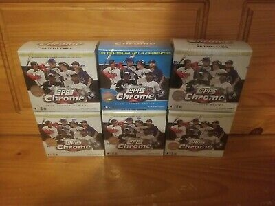 2020 Topps Chrome Update Series Baseball Mega Box - Factory Sealed - Lot of 6