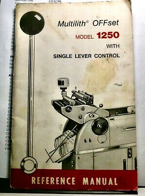 Original Multilith offset 1250 Reference Manual