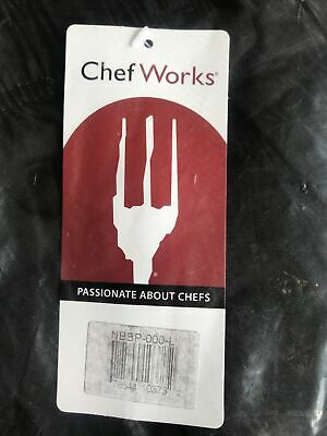 Chef Works Black Pants Size Large NBBP-000-L NWT
