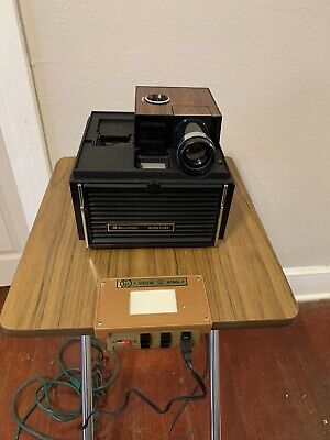 Vintage Bell & Howell Slide Cube System II Projector With stand