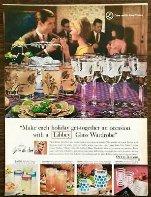 1964 Libbey Glassware Print Ad Make Each Holiday Get-Together An Occasion