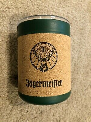 Jagermeister 2020 10 oz Insulated Cup With Lid and Cork Surround Jager Stag Logo