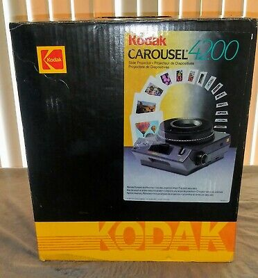 Kodak Carousel 4400 Slide Film Projector New Old Stock Excellent Condition.