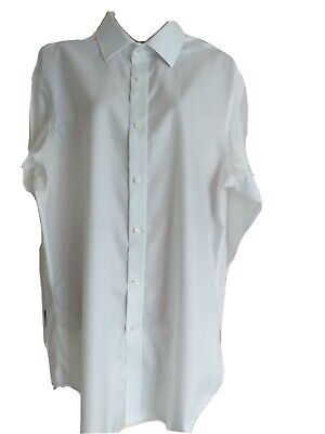 John Francomb White Cotton Dress Shirt. Size 16 Inch Collar