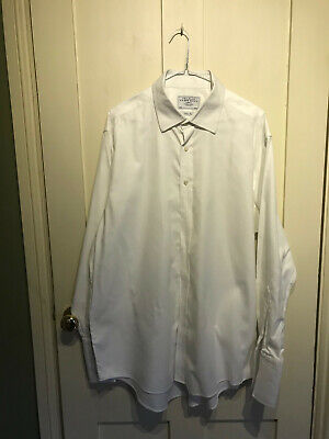 Mens Charles Tyrwhitt White Shirt Size 17in / 35 in