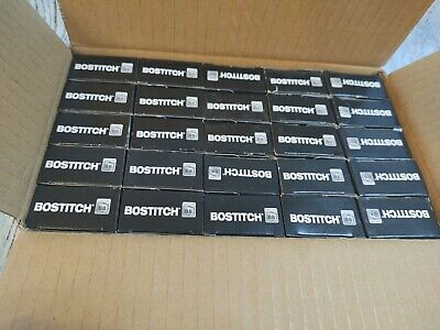 """Bostitch 25 Boxes of 1/4"""" (6mm) B8 Staples STCRP21151/4 5000 Staples in Each..."""