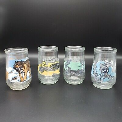 Vintage 1995 Welch's Jelly Jar Glass, Lot of 4 Glasses