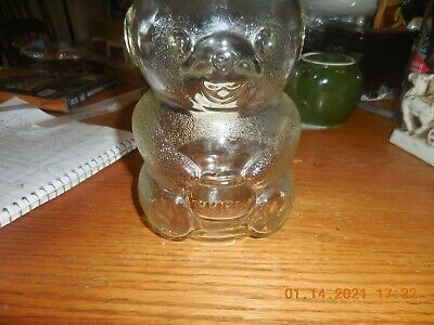 Vintage 1990 Skippy Peanut Butter- Beaver Glass Jar Bank- 100th Anniversary