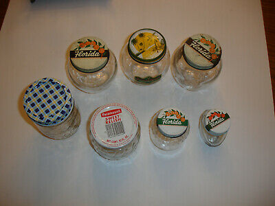 vintage lot 7 Jars Florida Stuckeys Paramount Relish Groveland Orange Marmalade