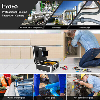 """7"""" 40M Pipe Drain Endoscope System φ23mm IP68 Industrial Sewer Camera Video 8GB"""