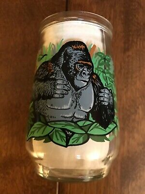 Vintage Welch's WWF Endangered Species Jelly Glass Mountain Gorilla