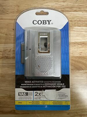 Coby CX-R60 2 Speed Voice Activated Cassette Recorder and Player CXR-60 SILVER