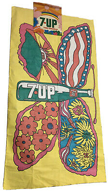 1969 7Up Psychedelic Butterfly Flag And Decal Pat Dypold