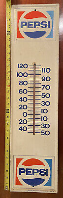 Antique Pepsi Thermometer (working) 28x7 1/8, Coke Hires