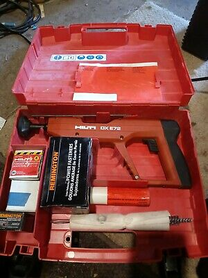 Hilti DX E72 Powder Actuated Fastening Tool W/ Case and Acc. Very Nice Condition