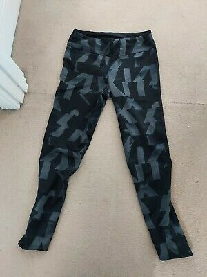 Adidas Running/Gym Leggings Climacool Size Small 8-10 7/8ths Activewear Black