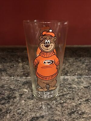 "Vintage 1970's A&W Root Beer ""The Great Root Bear"" Glass 16oz. Collectable"