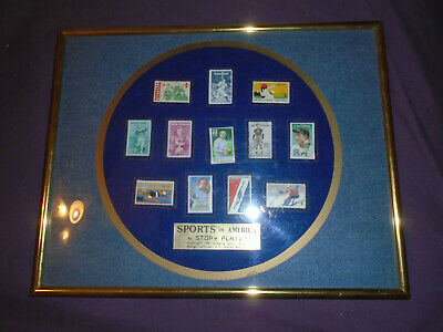 SPORTS in AMERICA by Story Plate Framed display US Postal Service 1990