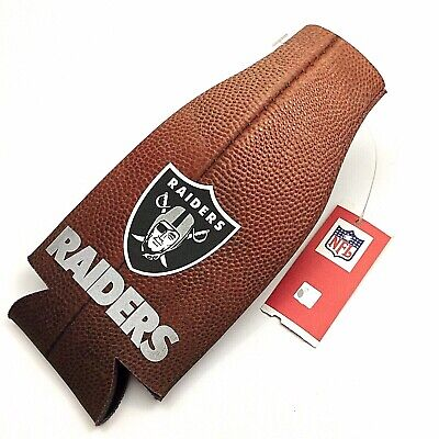 NFL Las Vegas Raiders Pigskin Kolder 12 Oz Neoprene Bottle Cooler Free Shipping