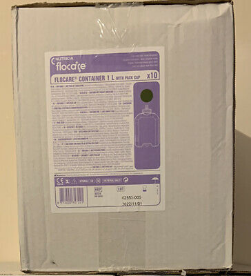 10 x Flocare Infinity 1 Litre Bottles/Containers. Sterile. Brand New.