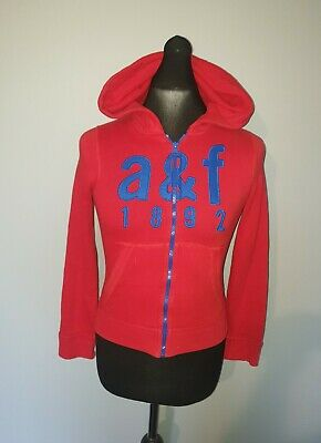 Boys ABERCROMBIE & FITCH Muscle Fit Full Zip Hoodie Track Top Age 10-11 Years