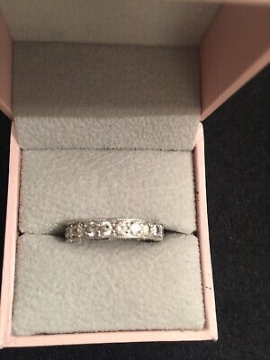 Vgndrings2021 stainless steel silver sparkly ring three diamonds  size 9.25 #43