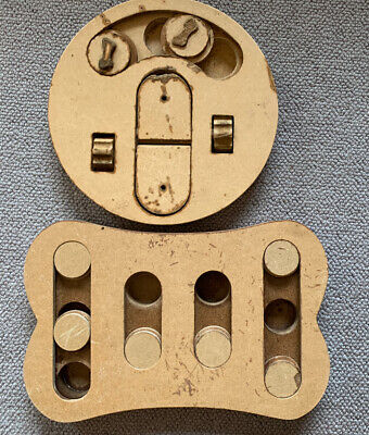 Pair Of Hand Made Wooden Toys. Wooden Mechanical Toys. Treen