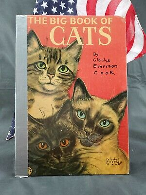 The Big Book Of Cats By Gladys Emerson Cook 1954 Hardcover