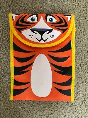 TIGER School Lunch Box REUSABLE foldable Purse Smithsonian National Zoo Vintage