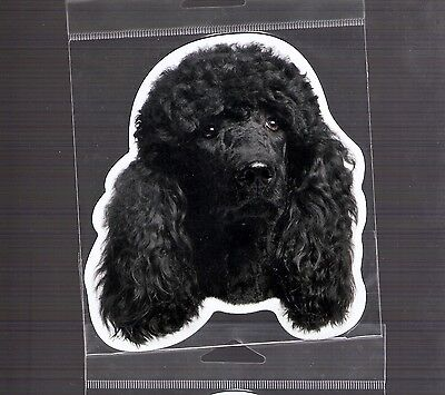 Poodle Black 4 inch face magnet for car or anything metal     New
