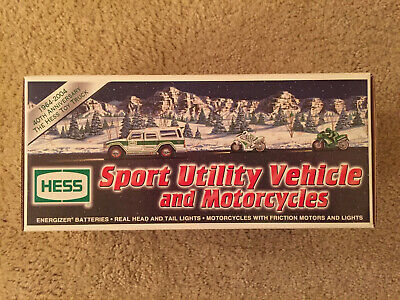 Hess 2004 Sport Utility Vehicle & 2 Motorcycles -  NEW in Box, Never Played with