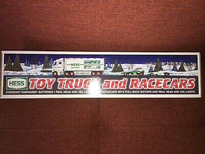 BRAND NEW 2003 HESS Toy Truck and Race Cars