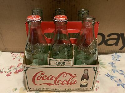 Vintage 2008 Coca Cola Circa 1900 6Pack with Carrying Case *Empty Bottles*