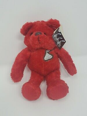 Red Hershey Kiss Bean Bear- Excellent Condition!
