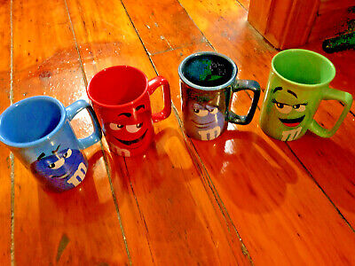 4 M&m MUGS with faces